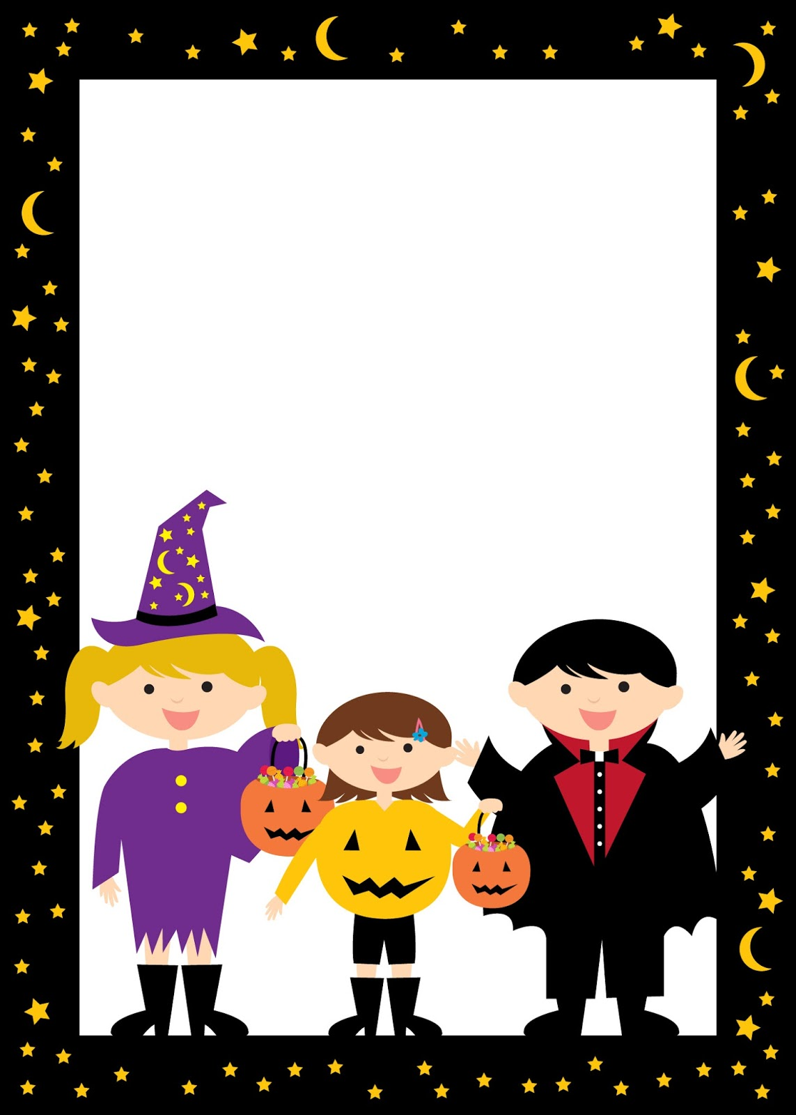 halloween free printable frames and borders