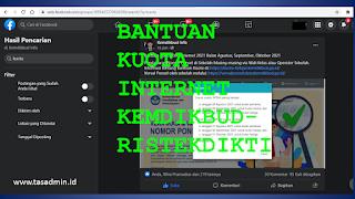 Bantuan Kuota Internet Kemendikbudristek September 2021