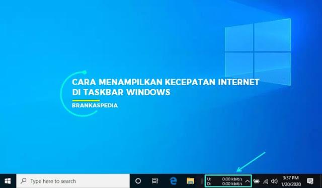Cara Menampilkan Kecepatan Internet pada Taskbar di Windows 10