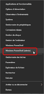 Windows powerShell(admin)