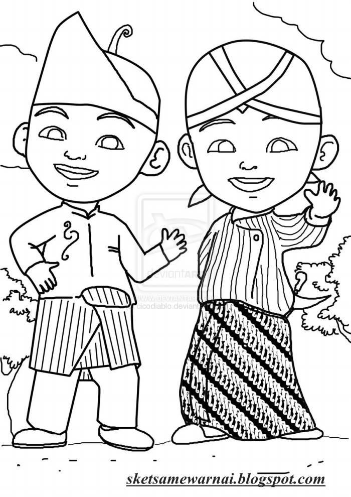 Mewarnai Rumah Adat Bali : mewarnai, rumah, Gambar, Mewarnai, Rumah, Terbaru