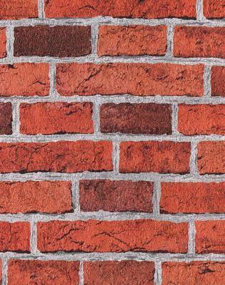 Papel de parede tijolo tijolinho da revista minha casa for Papel de pared rustico