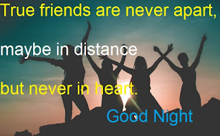 good night friends images with quotes