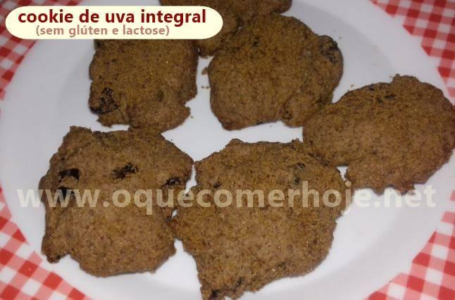 Receita de Cookie Integral de Uva sem Glúten e Lactose