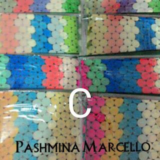 pashmina marcello motif polka bahan sifon