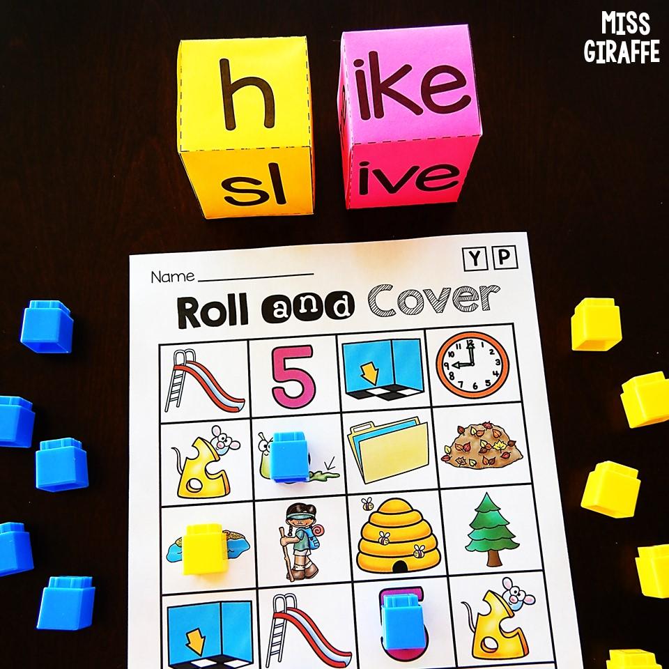 small resolution of Miss Giraffe's Class: Long Vowel Games for First Grade and Kindergarten