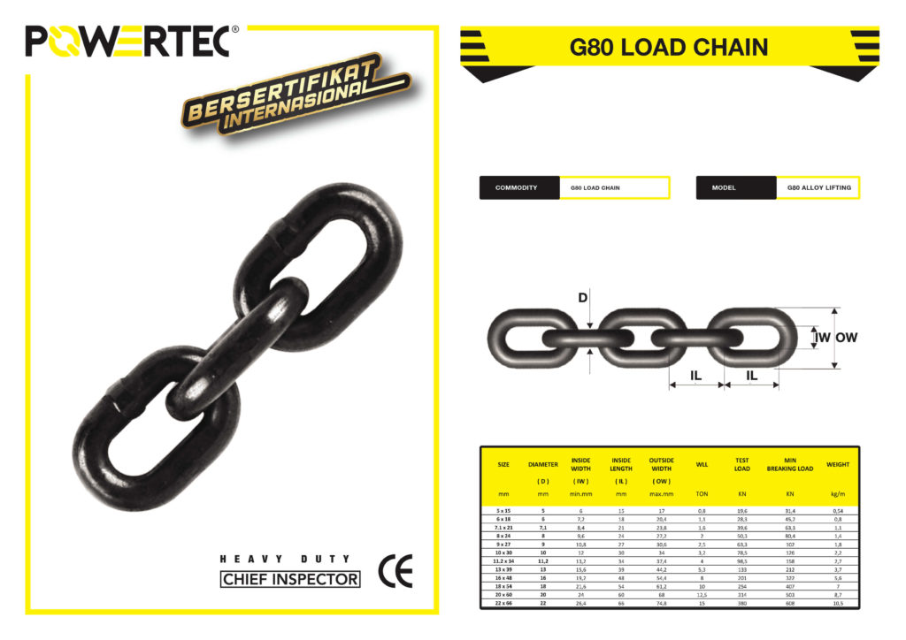 G-80 Load Chain Brochure Powertec