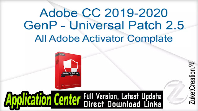 Adobe CC 2019-2020 GenP – Universal Patch 2.5
