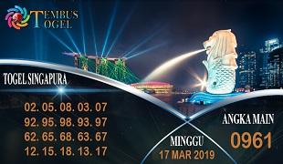 Prediksi Angka Togel Singapura Minggu 17 Maret 2019