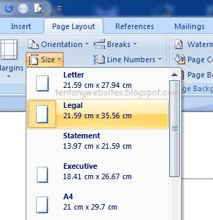 Cara print data dengan kertas f4