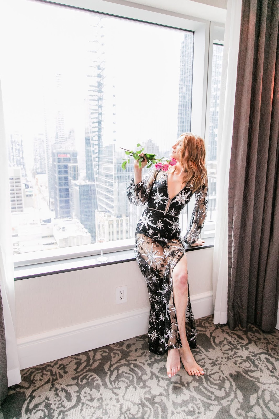 For Love and Lemons Stardust Maxi at St Regis hotel