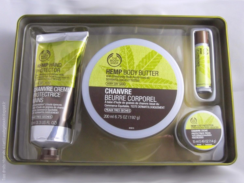THE BODY SHOP  Coffret Soins Hydratants gamme Chanvre