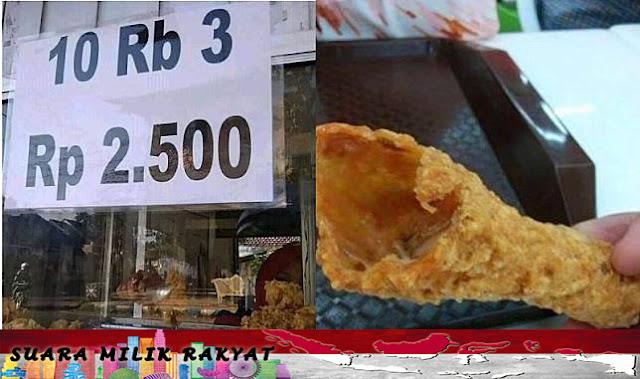 Viral Ayam Goreng Kopong, Netizen: Hanya Orang Beriman yang Bisa Lihat Dagingnya