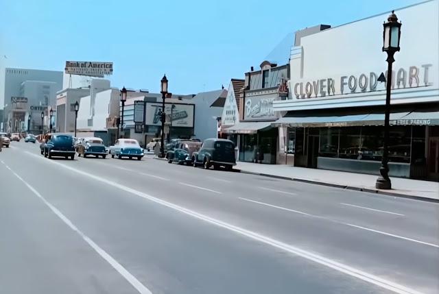 Wilshire Boulevard, LA, in 1951 randommusings.filminspector.com