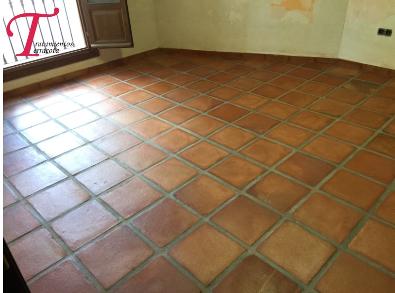 Tratamientos terracota tratamiento suelo de barro - Suelo rustico interior ...