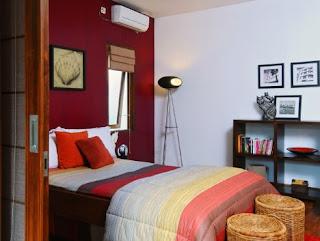 warna cat kamar tidur minimalis sempit