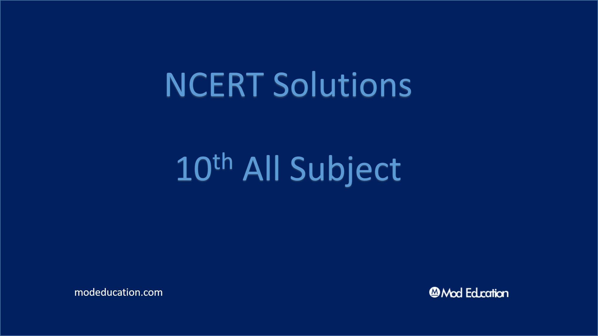 10 Solutions all Subject