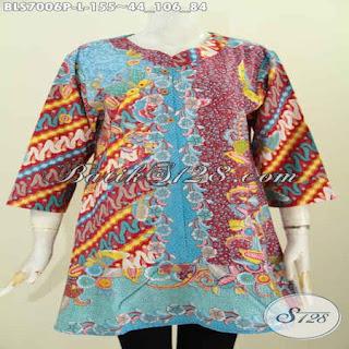 desain blouse batik modern