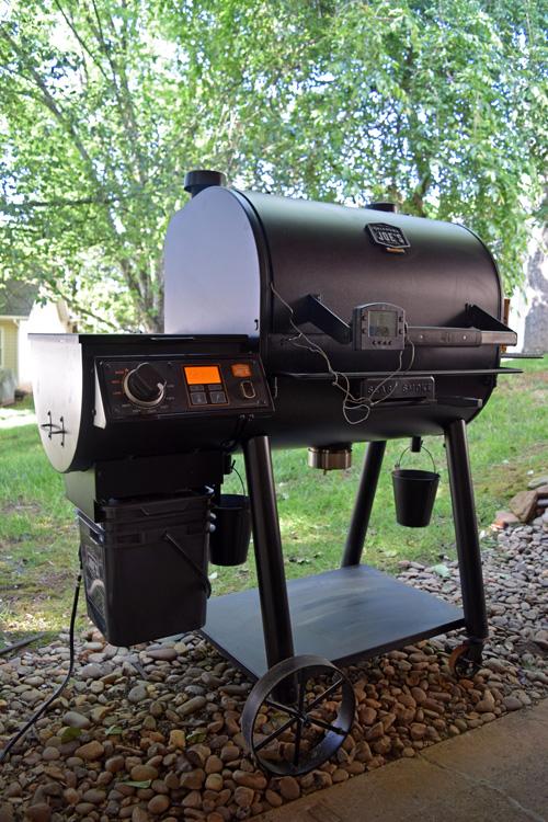 Firing up the Oklahoma Joe's Rider DLX Pellet Grill