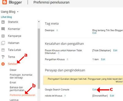 Cara Daftar dan Verifikasi Blog ke Google Webmaster Tools beserta Cara Menambahkan Peta Situs di Search Console