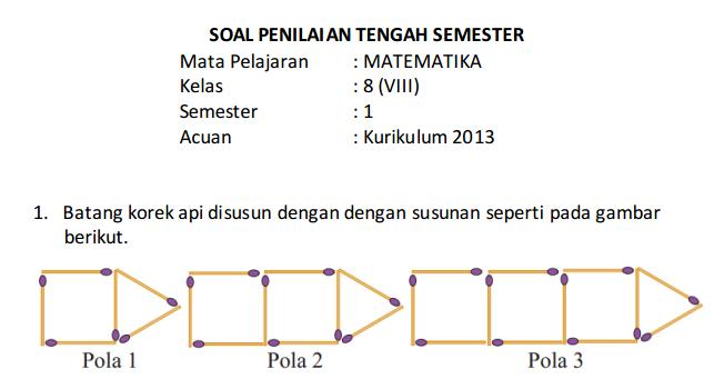 Soal Uts Pts Kelas 8 Smp Mts Semester 1 Ganjil Kurikulum 2013 Tp 2019 2020 Idn Paperplane