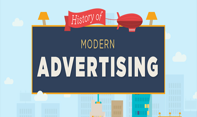 A quick look at contemporary advertising history #infographic