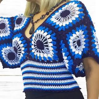 Blusa Ojos a Crochet