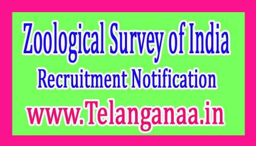 ZSI (Zoological Survey of India) Recruitment Notification 2017