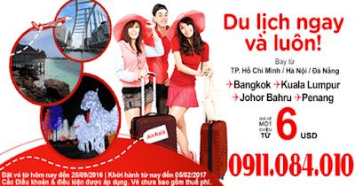 Bán vé máy bay Air Asia du lịch ngay và luôn