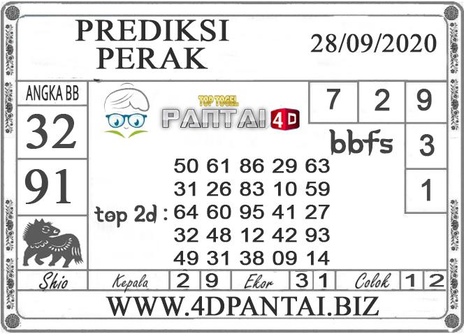 PREDIKSI TOGEL PERAK PANTAI4D 28 SEPTEMBER 2020