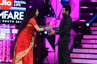 Surya Recieving Filfare for best actor 2017 images