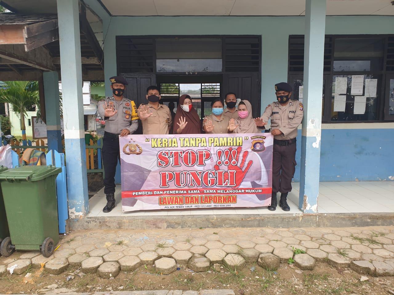 Antisipasi Pungli, Polsek Teweh Timur Sambangi SMPN 1 Teweh Timur