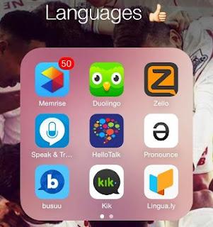 تعلم اللغة المختلفة