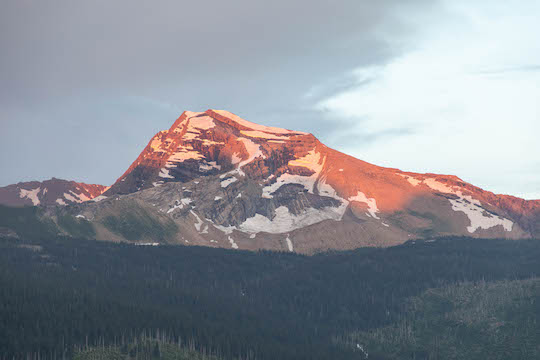 Heavens Peak in Glacier National Park