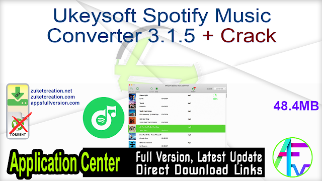 Ukeysoft Spotify Music Converter 3.1.5 + Crack