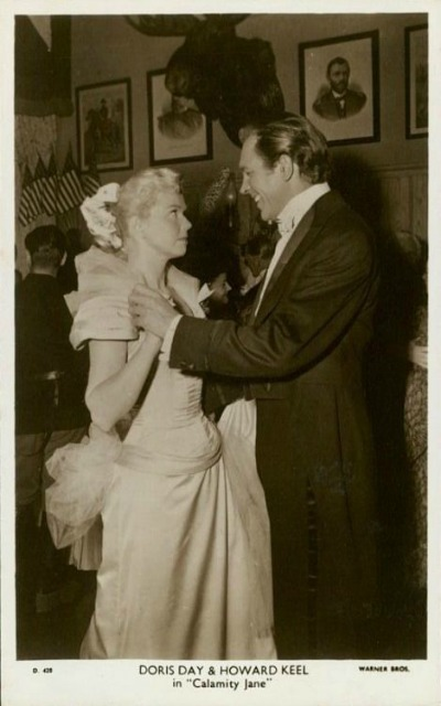 Doris Day and Howard Keel in 1953 Calamity Jane  Howard Shoup Costume Designer