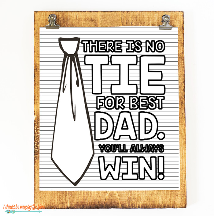 Tie Coloring Page for Father's Dae