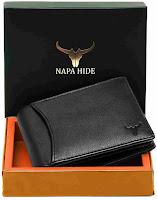 Black style napahide men wallet