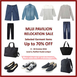 MUJI Pavilion Relocation Sale 2016