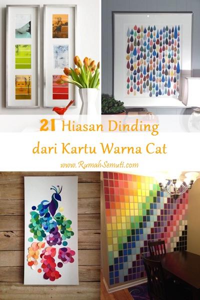 21 Hiasan Dinding dari Kartu Warna Cat