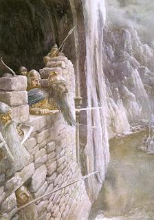 Thorin dialogando con elfos y hombres