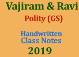 Vajiram Ravi Polity GS Handwritten Class Notes 2020