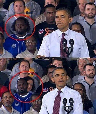 Obama spectator before and after