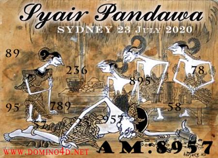 Syair Pandawa Sydney Kamis 23 Juli 2020