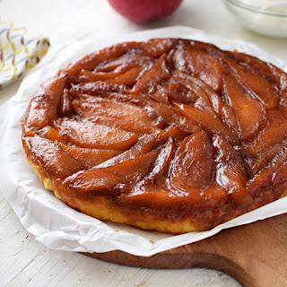 Receta para preparar tarta tatin de mango y hojaldre