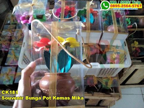 Souvenir Bunga Pot Kemas Mika