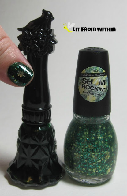 Bottle shot:  Anna Sui N903, and Sinful Colors Feelin' Lucky?