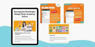 Fitur klub hobi brain academy online