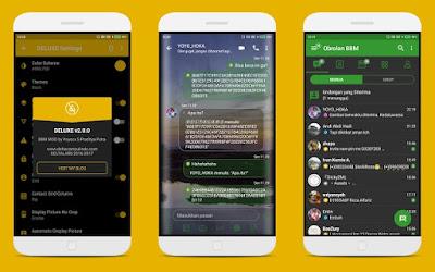 Aplikasi BBM Mod Android Delta v 3.3.4.48 Release Terbaru