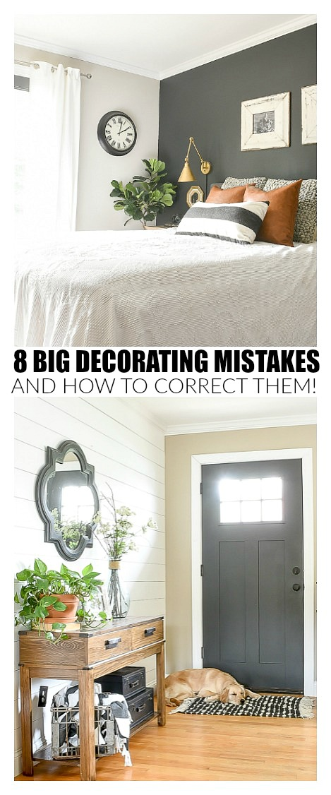 8 decorating mistakes and how to fix them